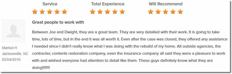 Fire Claim Adjuster Reviews